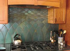 The Art + Craft of Countertops — Arts & Crafts Homes and the Revival.  Love the pattern and the colors.
