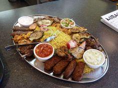 Special platter for 2-Mirage Mediterranean Restaurant- Louisville KY