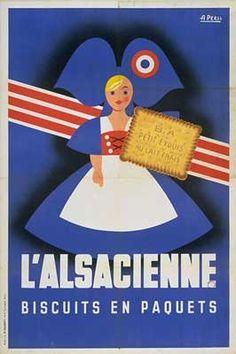 www.justacote.com #justacoté #poster #Vintage L'alsacienne....reépinglé par Maurie Daboux ❥•*`*•❥