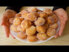 Tylko 10 minut! Bez dotykania ciasta! Łatwo i tanio! super pyszne - YouTube Beignets, Cookie Desserts, No Bake Desserts, Baked Chicken Strips, Different Types Of Bread, Bread And Pastries, Afternoon Snacks, Food Hacks, Food Videos