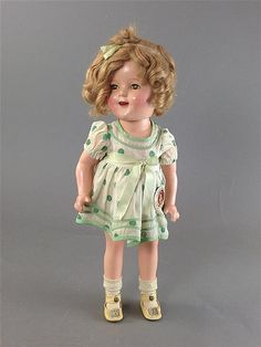 "15"" EARLY SHIRLEY TEMPLE BY IDEAL IN RARE PROTOTYP - by Apple Tree Auction Center"