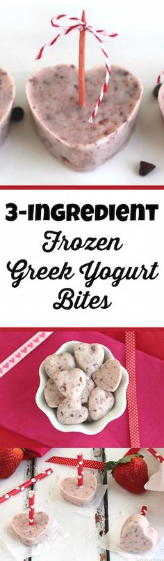 Perfect for snacks or even as healthy desserts, these easy Frozen Greek Yogurt Bites can be made with or without molds … and in shapes appropriate for any holiday or theme! So easy to make! ~ from Two Healthy Kitchens at www.TwoHealthyKitchens.com
