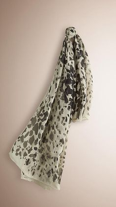 Burberry Stone Print Animal Print Silk Georgette Scarf - Animal print scarf in soft silk georgette. Discover the scarves collection at Burberry.com