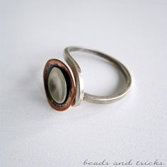 Silver and copper in a ring | Handmade by Beads and Tricks