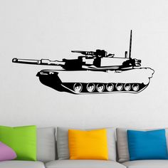 Awesome Tank Military Army Wall Sticker