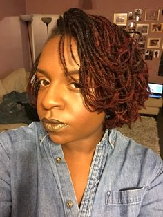 My locs. Not really sister locs because I did them myself and I have not taking the class. I started by micro braiding my natural hair.