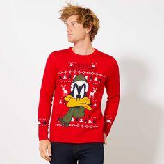 Pullover di Natale 'Daffy Duck' Uomo - rosso - Kiabi - 28,00€ Christmas Jumper Day