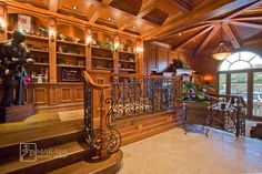 Library mediterranean home office