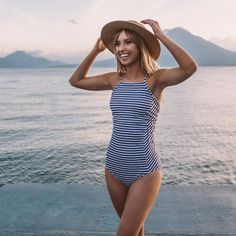The Weekender One-Piece Swimsuit. Stripped One Piece SwimsuitModest One  Piece Bathing Suit WomenTarget ... 89fa3cd8098e