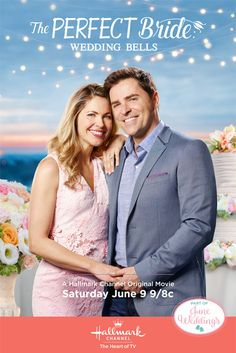 """Its a Wonderful Movie - Your Guide to Family and Christmas Movies on TV: The Perfect Bride: Wedding Bells - a Hallmark Channel """"June Weddings"""" movie starring Kavan Smith and Pascale Hutton!"""