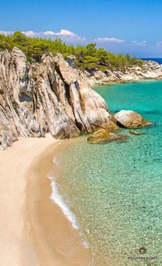 Beach in Halkidiki, Greece. For luxury hotels in Halkidiki visit http://www.mediteranique.com/hotels-greece/halkidiki/