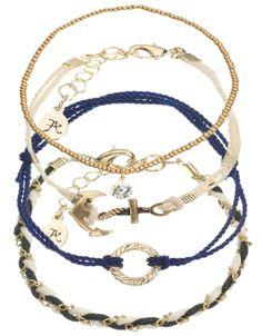 4 x Nautical Friendship Bracelet Pack