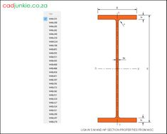 375 2D CAD Blocks: USA Steel Sections - WS, M and HP to AISC CAD Format: AutoCAD 2013  Block Type: 2D Dynamic (1x375 Lookup Tables)  Units: Inches  Description:  A dynamic block made using the ANSI Tables.  The block is parametric and uses lookup tables to produce 375 different blocks. The block can be edited to user dimensions with the standard AutoCAD Properties editor Steel Properties, Cad Blocks, Autocad, Editor, Tables, The Unit, Type, Building Information Modeling, Mesas