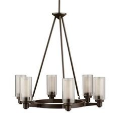 Kichler Lighting 2344 6 Light Circolo Chandelier  Smooth and tailored, an enticing interpretation of the contemporary mood with European flair. Straight
