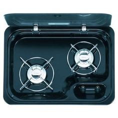 NEXT WORKING DAY DELIVERY on Cramer CE99-ZF460 Black Edition 2 burner hob for use in the caravan, motorhome, camper van and boat