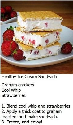 19. #Healthy Ice Cream Sandwich - 60 Ice Cream #Sandwiches You'll Want to Wolf down ... → Food #Cream