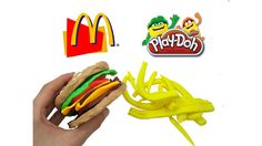 Play Doh Videos. Play Doh Mcdonald's Hamburger. How to make Hamburger wi...
