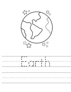 Earth Day Worksheets - Best Coloring Pages For Kids Earth Day Worksheets, Letter Worksheets For Preschool, Earth Day Activities, Tracing Worksheets, Preschool Lessons, Kindergarten Worksheets, Kids Worksheets, Kindergarten Learning, Kindergarten Science