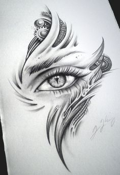 Biomech Dragon Eye Dragon Child by JKingsArt on DeviantArt Art Drawings, Tattoo drawings Tattoo Design Drawings, Cool Art Drawings, Pencil Art Drawings, Art Drawings Sketches, Tattoo Designs, Tattoo Ideas, Creepy Drawings, Dragon Eye Drawing, Creepy Eyes