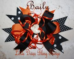 christmas hair bow resins | BAILY Halloween Hair Bow From the Diva Girls Holiday Collection FREE ...