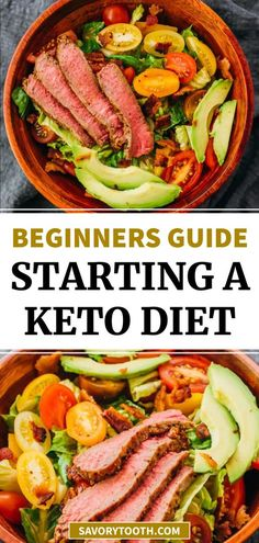 This guide is for anyone new to a ketogenic diet or low-carb high-fat diet. If you're wondering how to begin, this guide will provide all of the necessary information to get started, including explanation of a low carb diet and related terms, reasons why it can be beneficial for your health, how to read nutrition labels and calculate net carbs, how to track your foods, and what you can eat and what to avoid.