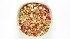 The classic combo of bulgur wheat, chickpeas, fresh herbs, tomatoes & cucumbers is upgraded in this best Tabbouleh Salad recipe ever!