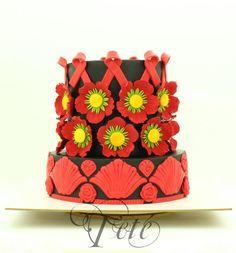 Be RED - UNSA 2015 - Cake by Teté Cakes Design