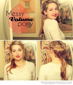Messy Volume Pony #hair #tutorial