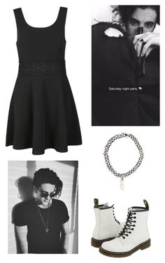 """quick set -- party with Clinton Cave // Audrey"" by audrey-panda ❤ liked on Polyvore featuring Ally Fashion, Dr. Martens, Free Press, women's clothing, women's fashion, women, female, woman, misses and juniors"