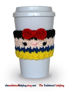 Ganchillo nieve blanca taza café acogedor por TheEnchantedLadybug, $14,00