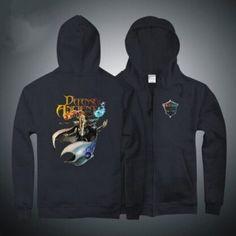 Dota 2 Kael zipper sweatshirt design men hoodies