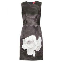 Lanvin Rose Print Sheath Dress ($1,285) ❤ liked on Polyvore