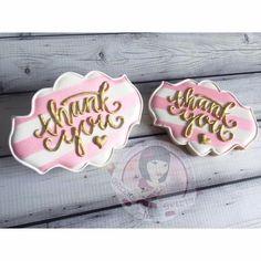 thank you cookies Summer Cookies, Fancy Cookies, Valentine Cookies, Iced Cookies, Cute Cookies, Birthday Cookies, Cookies Et Biscuits, Fondant Cookies, Galletas Cookies