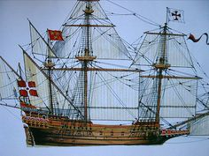 Image from http://www.kotiposti.net/felipe/Pictures/Portuguese_Galleon_1588/portuguese_galleon_1588.jpg.