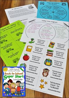 Back to School Super Start from Laura Candler is packed with printables and activities to get your year off to a great start! $