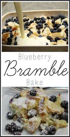 Blueberry Bramble Bake ~ Delicious Breakfast Dessert I love a delicious breakfast dish! If you do too, you'll love my Blueberry Bramble Bake Recipe. It's easy to make and a huge hit with the whole family! Yummy Recipes, Gourmet Recipes, Baking Recipes, Dessert Recipes, Yummy Food, Easy Brunch Recipes, Beef Recipes, Simple Recipes, Recipies