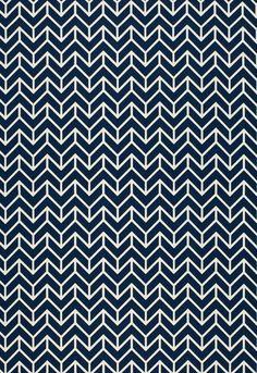 Schumacher Chevron Print in Navy by sparkmodern on Etsy, $55.00