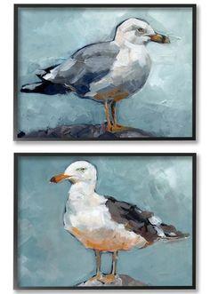 Seagull Art Set | Shore Bird Wall Art