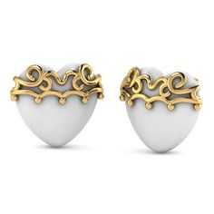 Lovely Heart Studs @ http://www.aurobliss.com/lovely-heart-studs.html