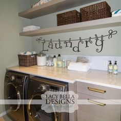 """""""Laundry"""" vinyl wall decal letters hanging by clothes pins Laundry Room Remodel, Laundry Decor, Laundry Signs, Laundry In Bathroom, Laundry Rooms, Diy Home Decor, Room Decor, Wall Decor, Vinyle Cricut"""