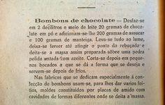 As Receitas da Avó Helena e da Avó Eduarda: Bombons de chocolate