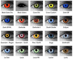 Halloween Special Effects Contact Lenses