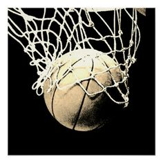 Sepia Vintage Look Basketball Perfect Art Poster - women woman style stylish unique cool special cyo gift idea present