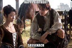 happy birthday sassenach - Outlander birthday