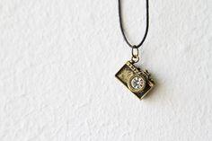 Brass Camera Necklace / Valentine's Day Gift by d3bz on Etsy, $15.00