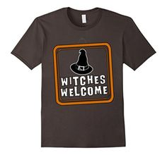 Men's Halloween Witches Welcome T Shirt Medium Asphalt - Brought to you by Avarsha.com
