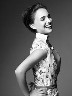 """Natalie Portman- """"'I believe in pink. I believe that laughing is the best calorie burner. I believe in kissing, kissing a lot."""" -Audrey Hepburn"""