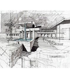 archisketchbook - architecture-sketchbook, a pool of architecture drawings, models and ideas Architecture Design Concept, Architecture Baroque, Architecture Sketchbook, Architecture Portfolio, Interior Architecture, Architect Drawing, Building Sketch, Interior Sketch, Sketch Design