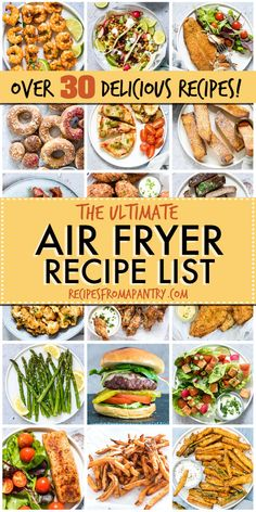Air Fryer Recipes Archives – Recipes From A Pantry You will find my free collection of easy and healthy Air Fryer Recipes that anyone can make. Please do bookmark this page and check back in, as I will be updating this page frequently. Air Fryer Recipes Breakfast, Air Fryer Oven Recipes, Air Frier Recipes, Air Fryer Dinner Recipes, Recipes Dinner, Dessert Recipes, Air Fryer Cooking Times, Cooks Air Fryer, Cooking Food