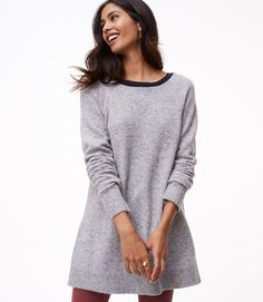 3e69d6f335 Flecked Boatneck Tunic Sweater in small or extra small Tunic Sweater